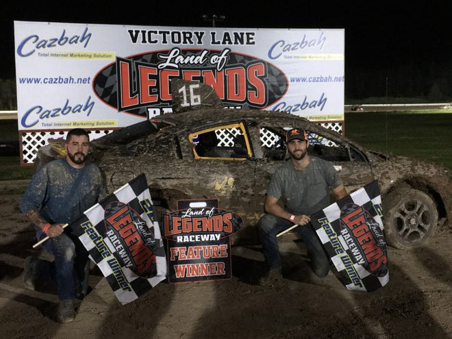 Alex Archer, left, and Jordan Bauer raced to Enduro titles Wednesday at Land of Legends in Canandaigua.