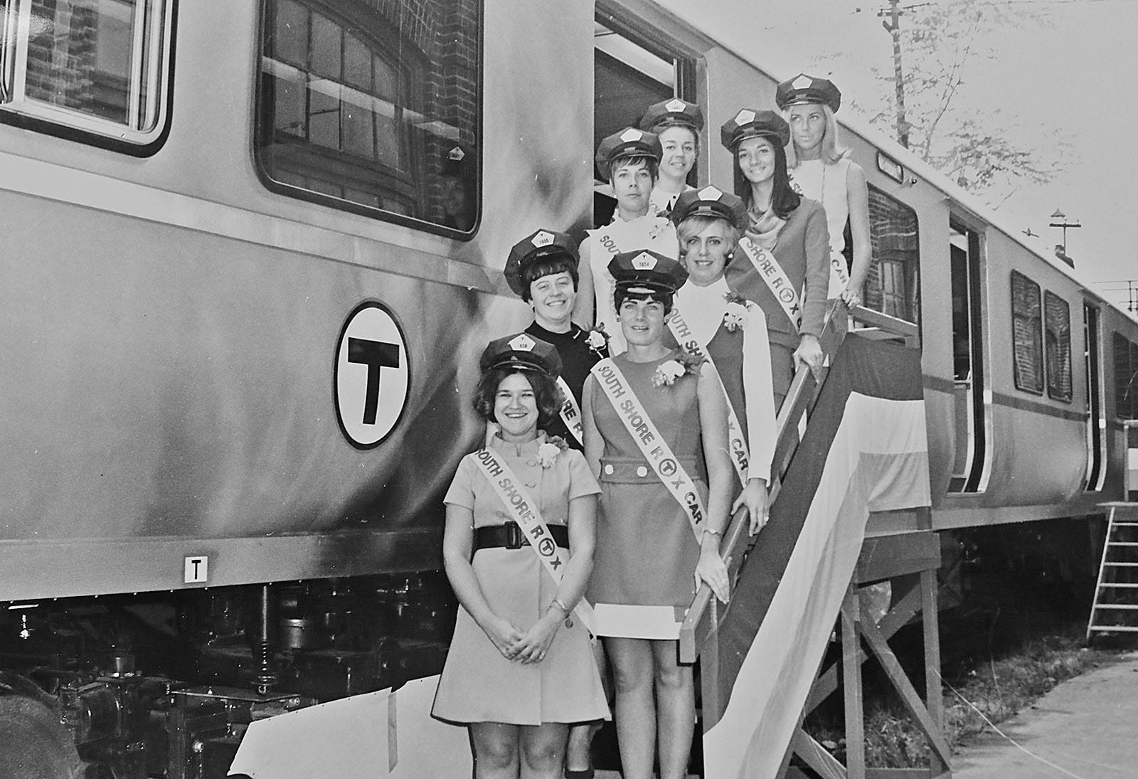 An image of new Red Line cars for the South Shore extension from the collection of Bradley Clarke, of Boston, transit historian and president of The Boston Street Railway Association.