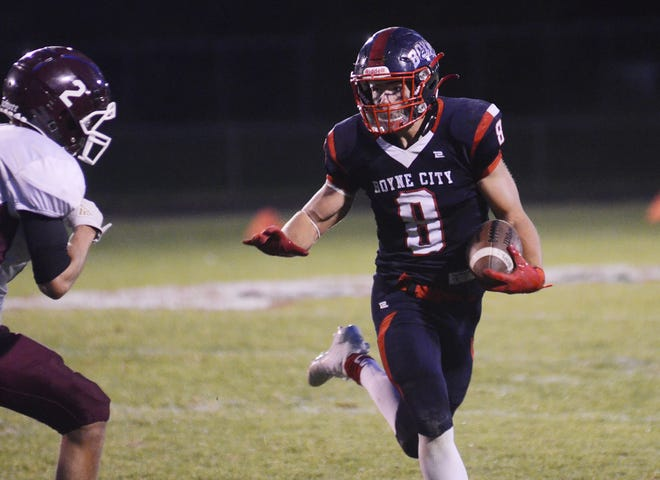 Boyne City senior Bobby Hoth is back to give teams problems on both sides of the football and should be in for an even bigger 2021.