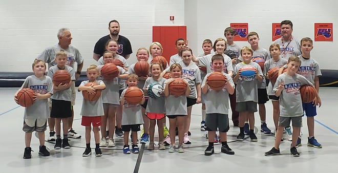 Eminence youth basketball campers.