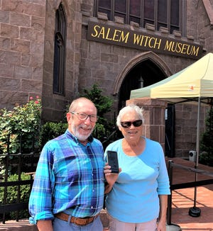 Ruth and Larry Kurlandsky of St. Augustine Beach took The Record e-edition along to visit the Salem Witch Museum in Salem, Massachusetts.