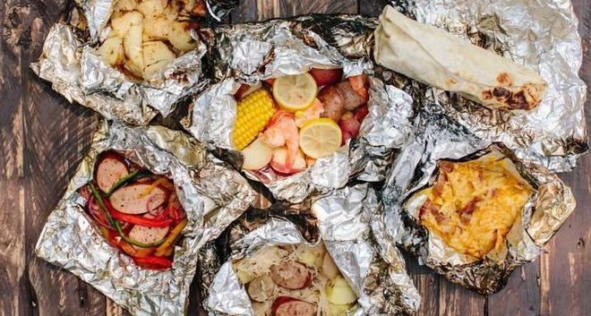 Assorted foil packet meals