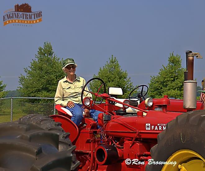 Marie VanWassenhove, 91, drove a Farmall H, provided by Gene VanDeVoorde.