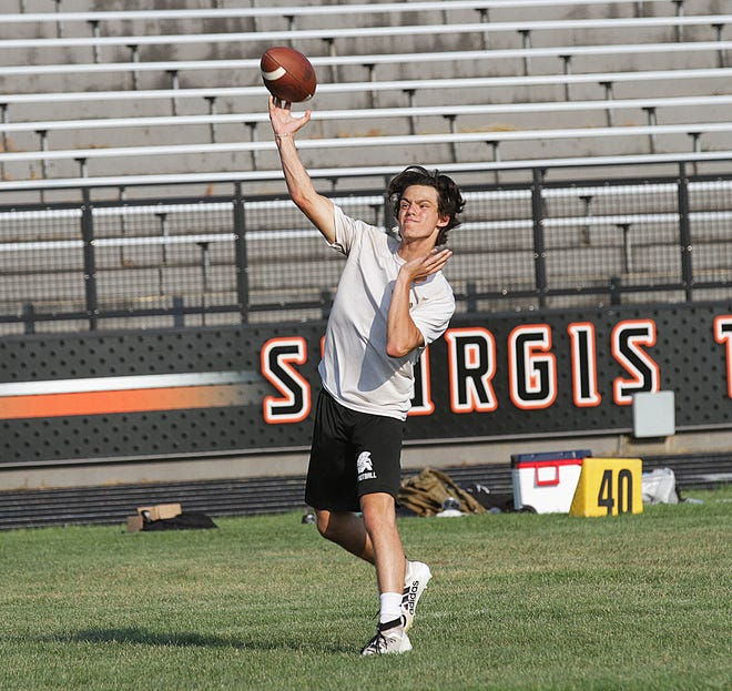Bronson and Constantine took part in a 7-on-7 passing camp held at Sturgis High School on Tuesday evening. The teams practiced against each other in preparation for the upcoming season.