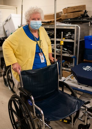 Outgoing manager of patient transportation Deborah Cox at UMass Memorial on July 29.