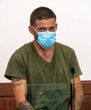 Carlos Betancourt is arraigned in Central District Court last week. He is accused of attacking two teenaged lifeguards with a knife and a bat Wednesday at the Lincoln Village pool.
