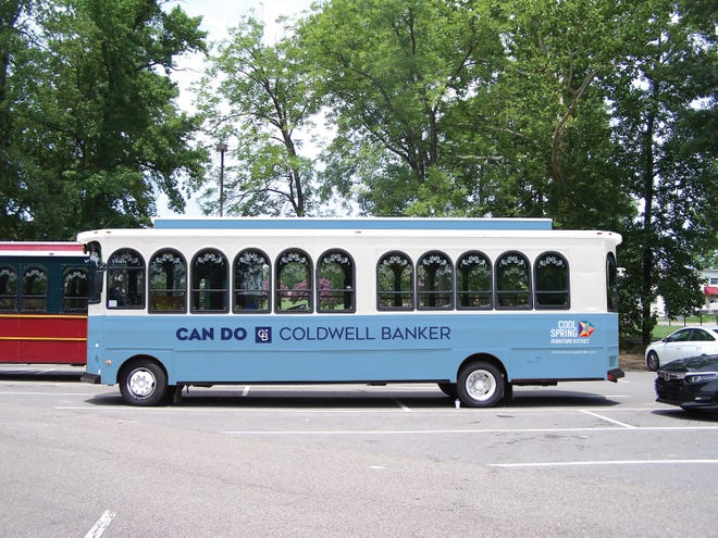 The trolleys were made possible by a partnership with Coldwell Banker.