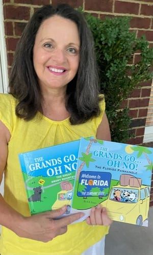 """The latest title in Angie Eason's series for young readers is """"The Grands Go — Oh No! The Florida Panhandle."""""""