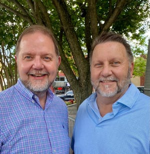 Lafe Jones (left) first met his full biological brother Randy Rogers in El Dorado, Ark. Rogers contacted Jones in May after a DNA match on Ancestry.com confirmed they shared the same mother and father. In addition, both men share 11 half-siblings through their biological mother. None of their half-siblings knew about their brothers either.