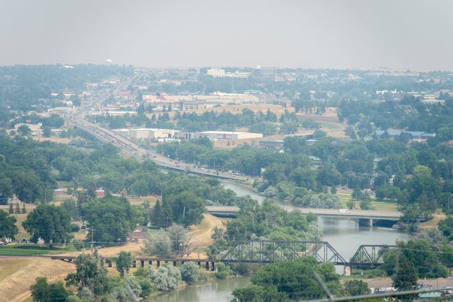 Smoke from wildfires blankets Great Falls on Wednesday, July 28, 2021.