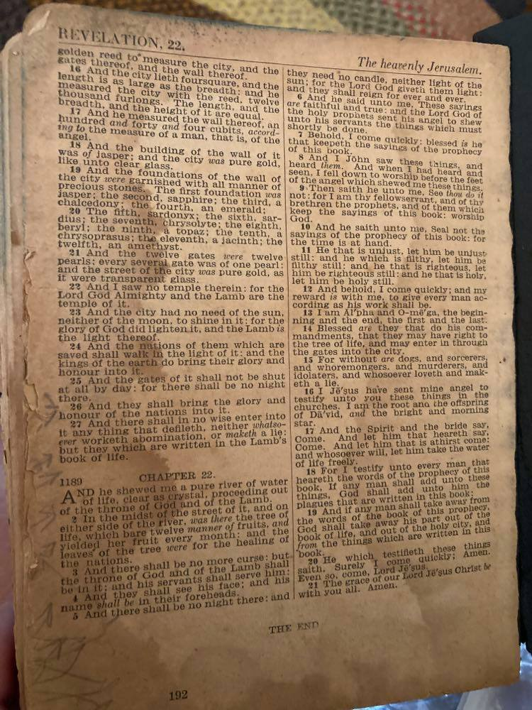 This Bible is one of the few items Rebecca Dalrymple has that belonged to her uncle, Aulton Phillips, who died on the USS Indianapolis.