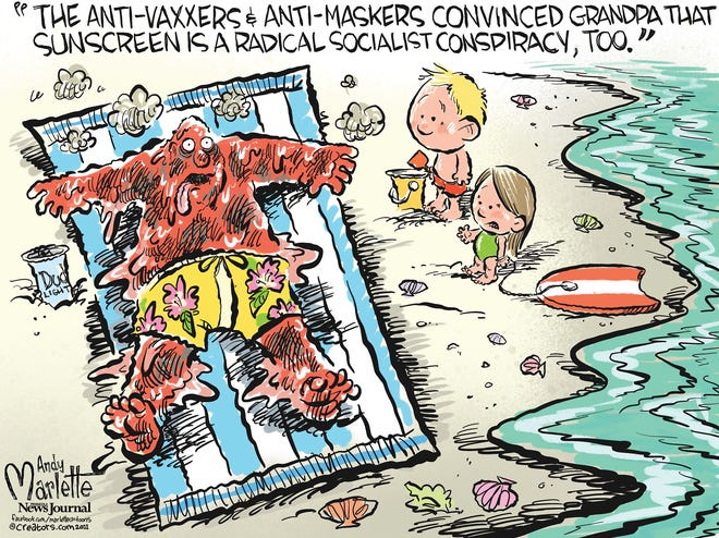 Marlette cartoon: Sunscreen a socialist conspiracy?!