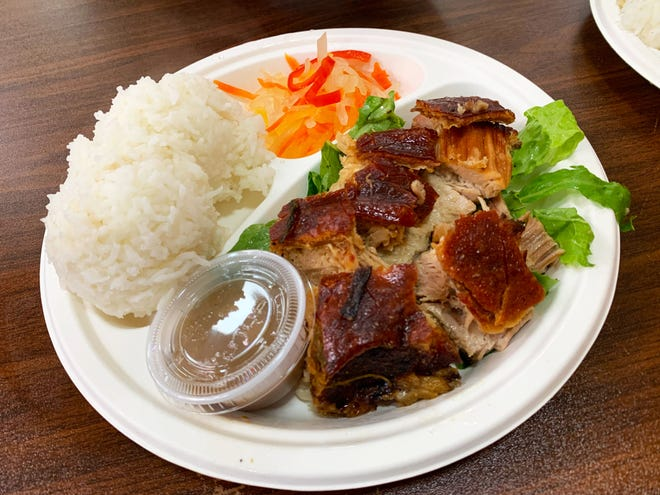 Pork lechon from Wholly Grill at Mekong Market.