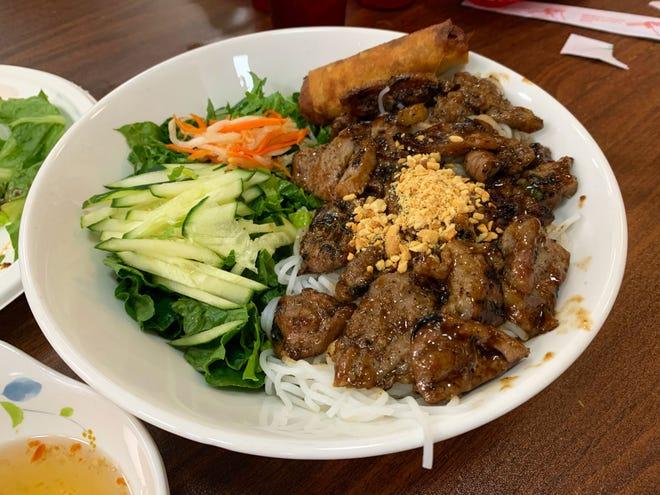 Bún thịt nướng is a go-to dish at Hue Gourmet.