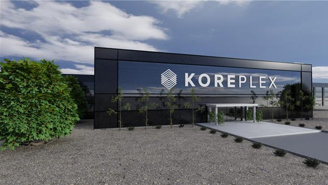 """The Idaho-based KORE Power will open a1 million square-foot """"KOREPlex"""" facility 40 miles west of Phoenix in Buckeye and hire 3,000 full-time employees, the company said. This is a rendering of what KOREPlex could look like."""