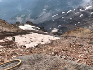 Officials have suspended the search for a missing climber on Mount Jefferson.