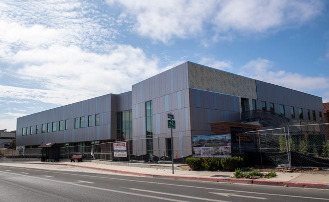 A new building is being constructed at Hartnell College in Salinas, Calif., on Wednesday, July 28, 2021.