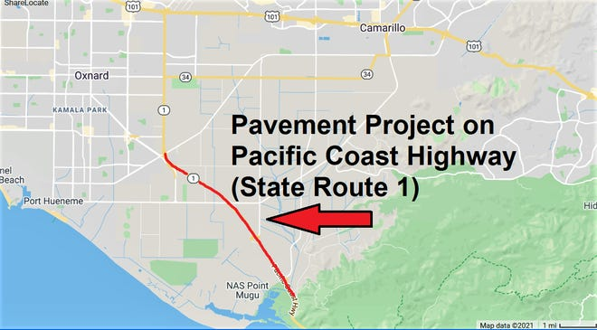 A 5.4-mile stretch of the Pacific Coast Highway will undergo partial closures overnight for repavement for the month of August.