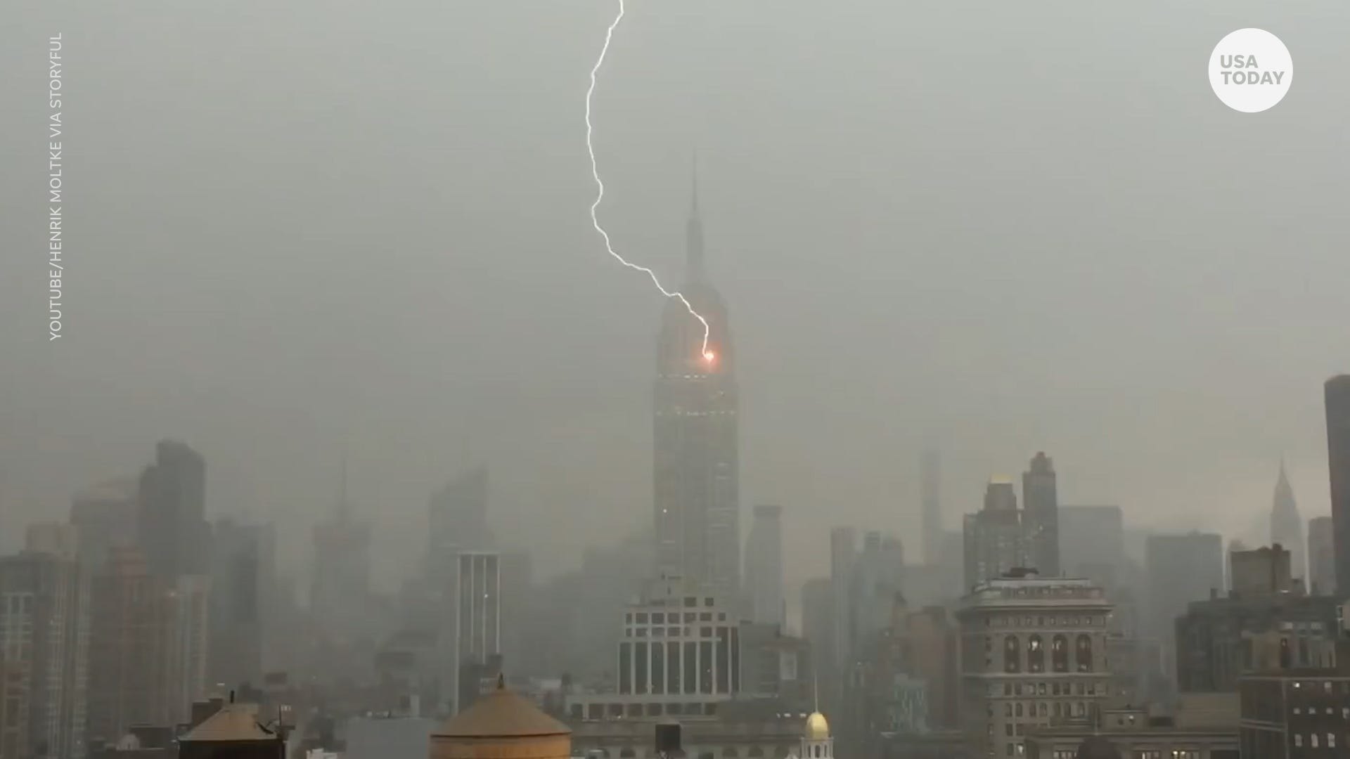 Empire State Building to the Eiffel Tower, lightning strikes international travel spots
