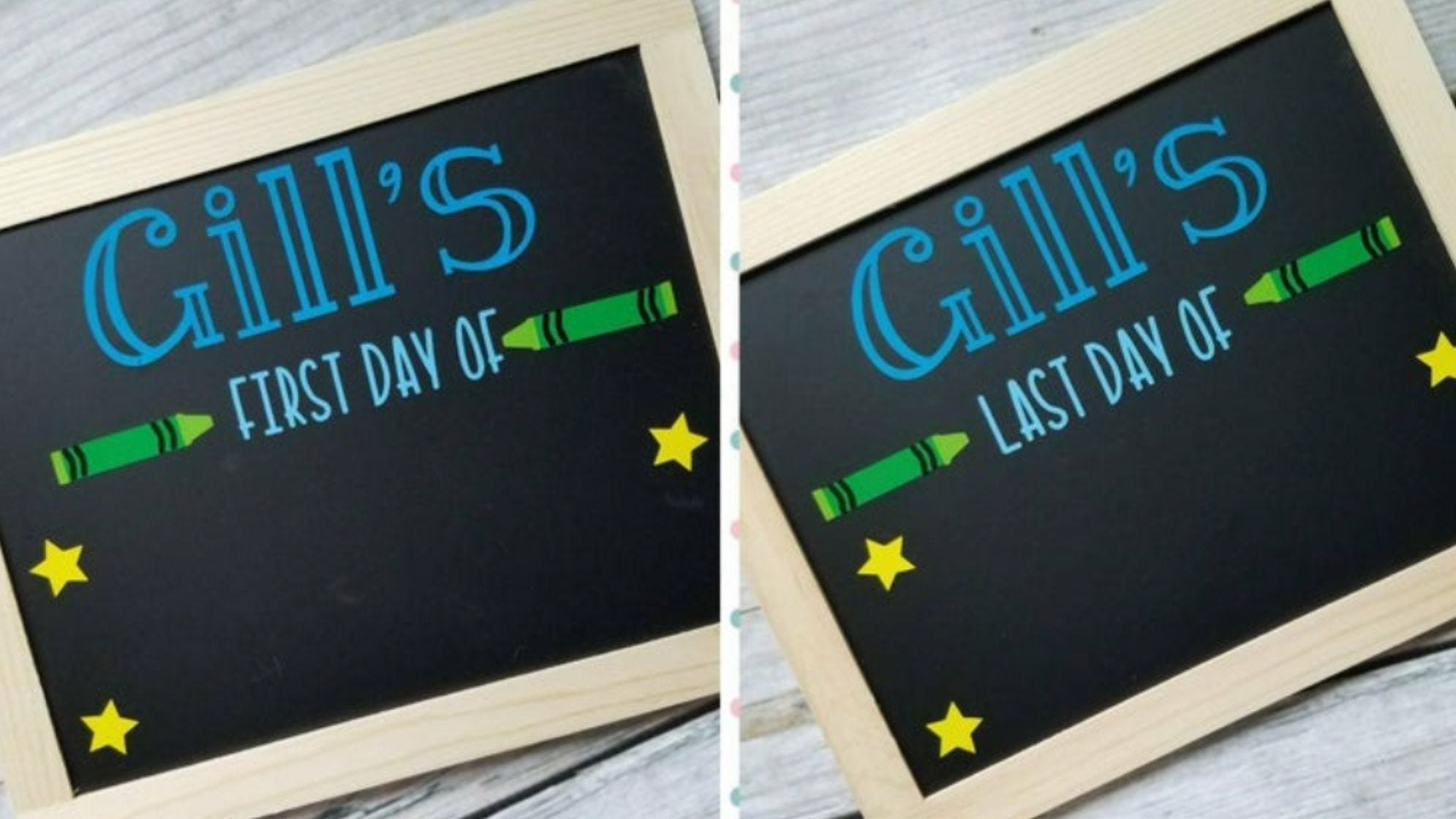 These chalkboard signs keep it simple!