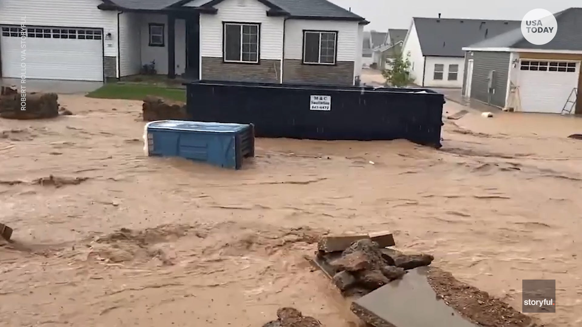 Chaos and major flooding occurred after two inches of rain fell over just one hour in Utah