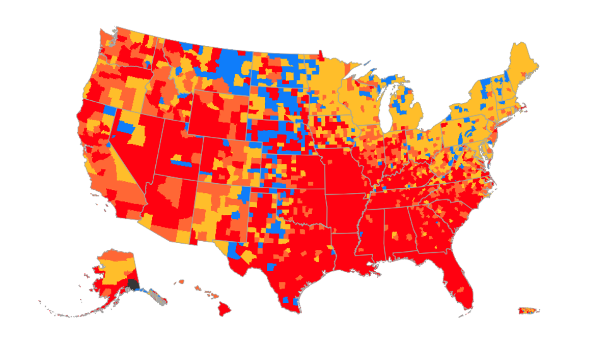 Mapping CDC's new guidelines: High transmission areas where you need to wear a mask indoors