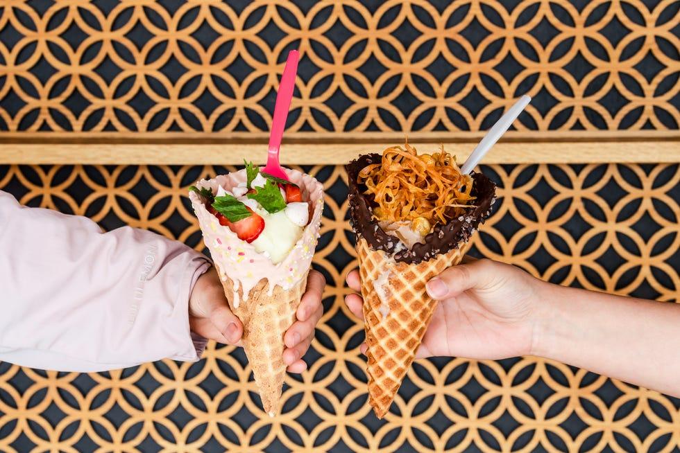 DipDipDip Ice Cream scoops inventive flavors from the Ramen Tatsu-ya family.