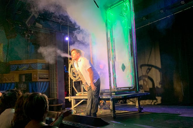Ray Anderson's magical illusions are a big draw for Esther's Follies, the musical comedy sketch troupe on East Sixth Street.