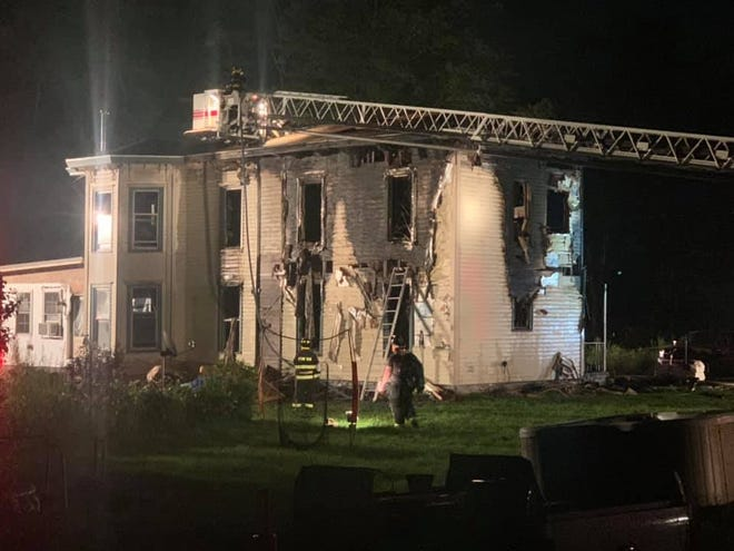 Eleven volunteer fire companies responded to fight the fire at the Sorce home on Log City Road the night of July 25.