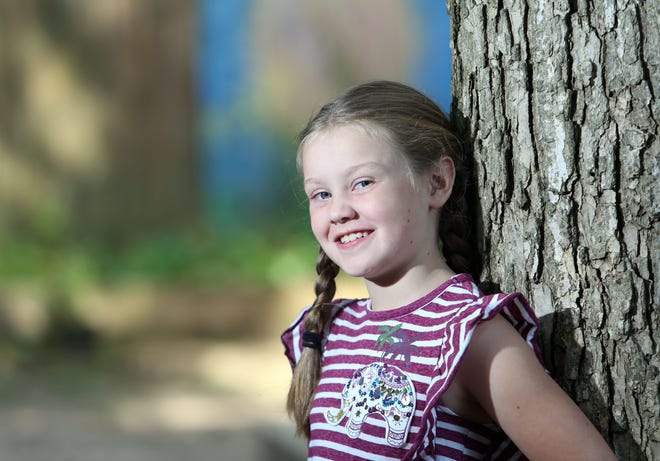 Pictured here is Everyday Hero 7-year-old Gia Jennings.  Jennings is a second grader at Clintonville Academy.
