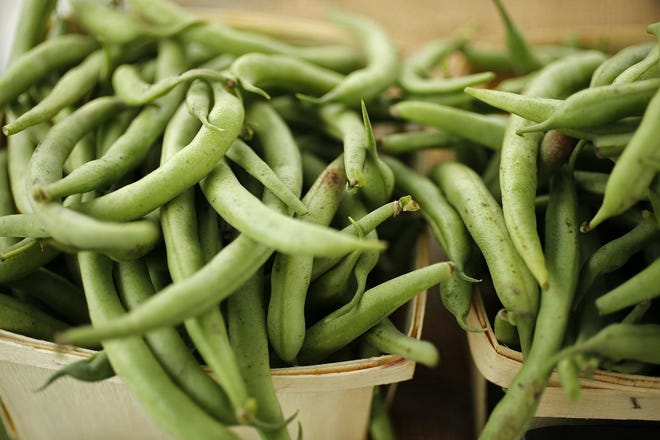 Green beans are among the veggies and fruits available at farms.