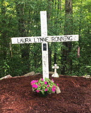 A small memorial still marks the spot where searchers found Laura Ronning's body back in 1991, not far from Tanner's Falls in Wayne County.