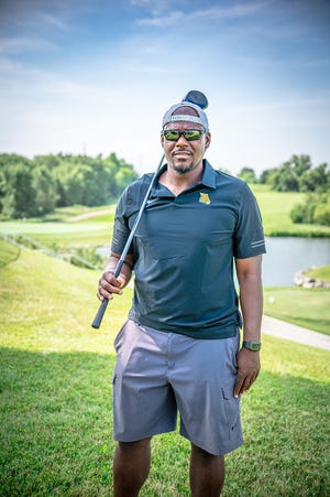 Former Blue Springs High School star defensive lineman Scorpio Horn played in a golf event at Adams Pointe Golf Club in Blue Springs. He is the new football coach at KIPP Endeavor Academy and there is an event Saturday to help raise money for a football field for the college preparatory school in Kansas City.