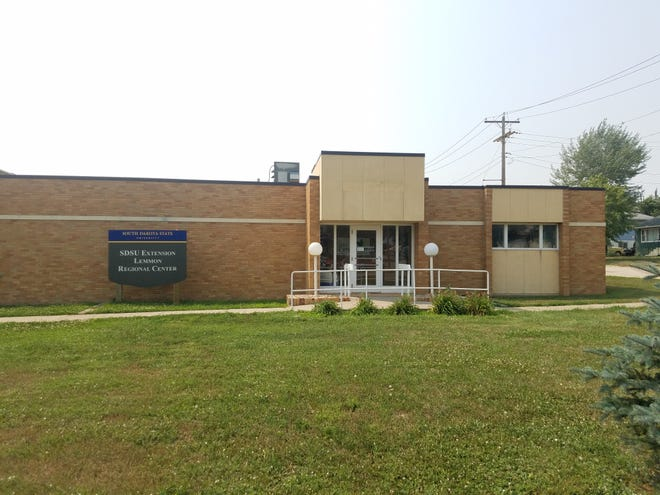 The new South Dakota State University (SDSU) Extension Lemmon Regional Center is located at 401 Sixth Ave. W. The office space is attached to the north end of the Five Counties Nursing Home in Lemmon, South Dakota.