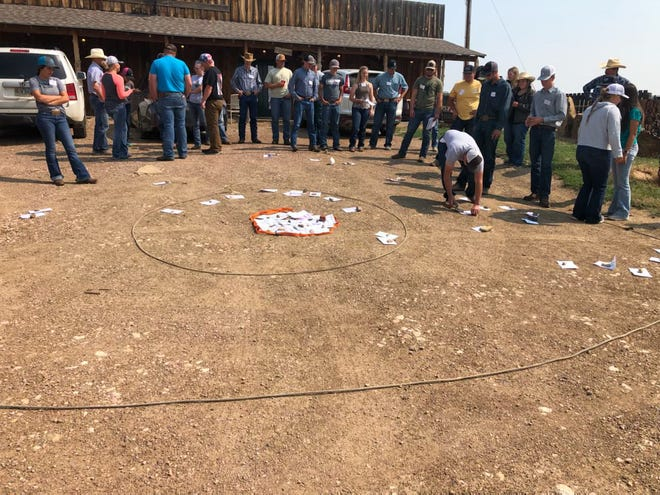 Young producers learn about ranch management at a South Dakota Grassland Coalition event.