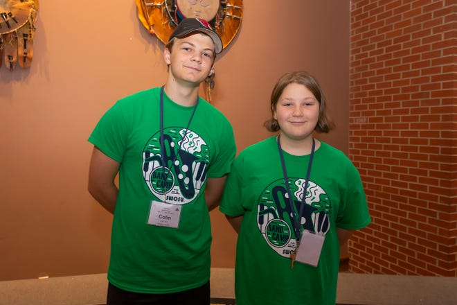 Colin Ruhl, at left, and Harper Ruhl, of Oklahoma City, were among nearly 500 students who recently attended Southwestern Oklahoma State University's 66thannual band camp in Weatherford.