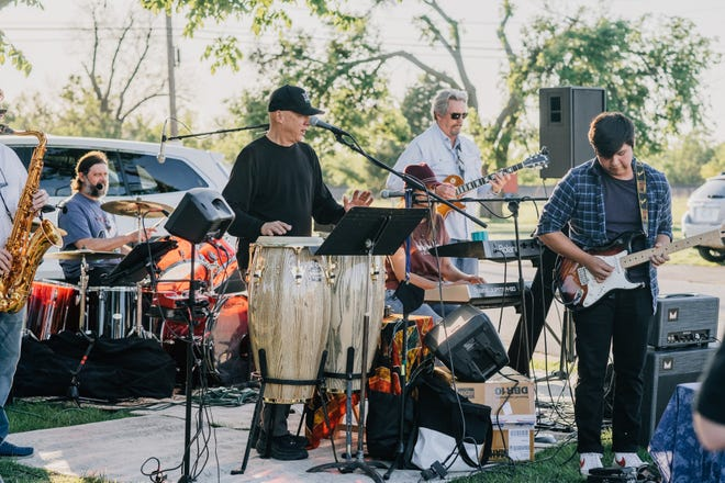 Janes Mays & the Minnie Funk Band play during a previous month's VIBES event in the downtown Edmond area.