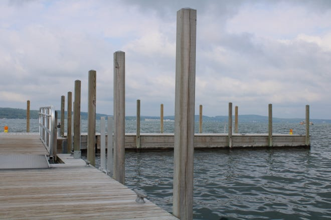 The most recent Boyne City marina T-dock expansion was completed a few years ago.