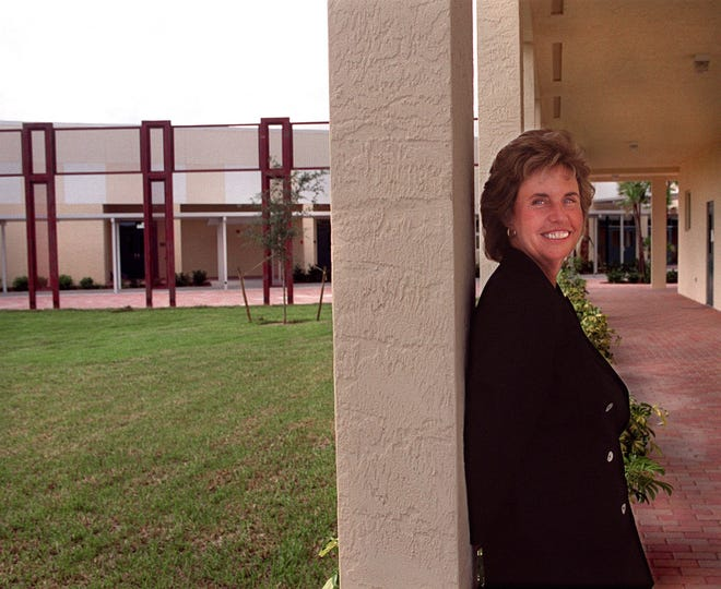 Former Odyssey Middle School Principal Bonnie Fox, pictured in 2001