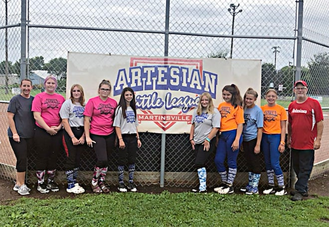 Martinsville was represented by girls from Artesian Little League at the state tournament in July.