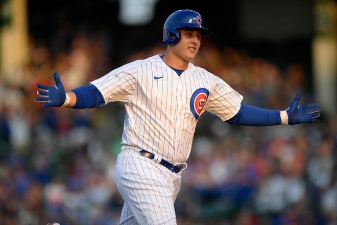 The New York Yankees acquired Chicago Cubs first baseman Anthony Rizzo for two minor leaguers on Thursday.