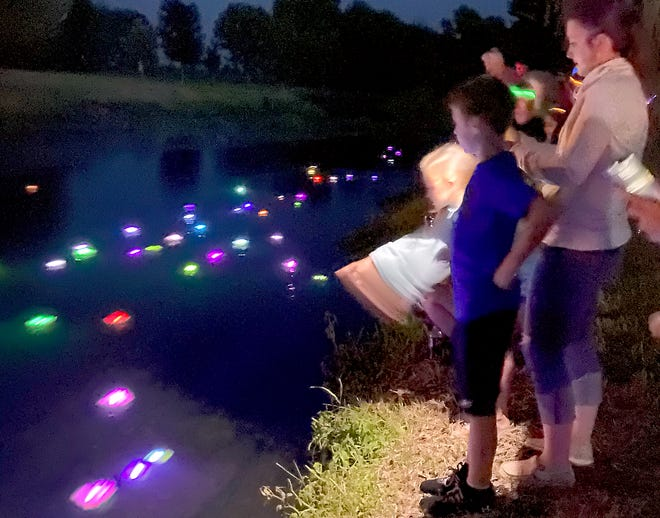 """""""River of Light"""" was part of opening-night festivities at Burr Oak Heritage Festival."""