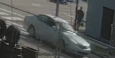 This is a car of interest in the July 29 drive-by shooting. It is believed to be a light-colored Lexus four-door sedan with a sunroof. If you see this vehicle, please don't approach it, and call 911 immediately.