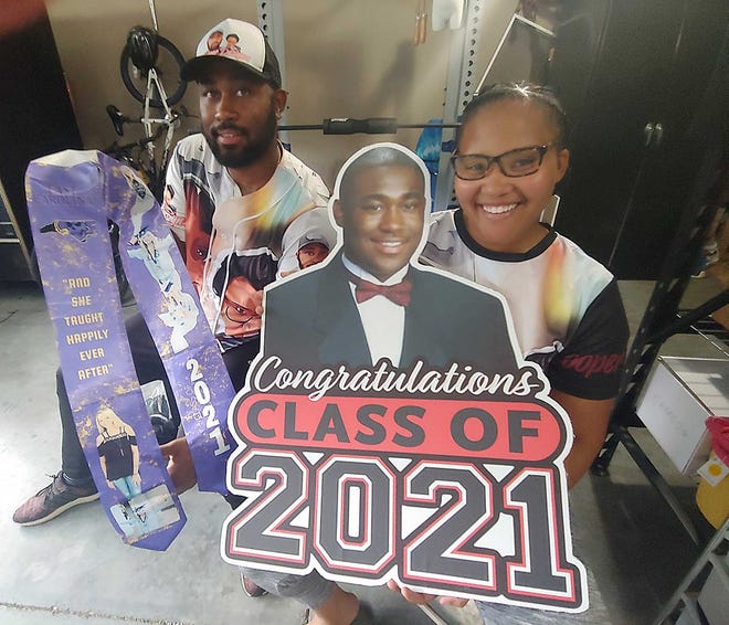 Brian and Rashanda Cooper had a sales spike in their designer items during the recent graduation season.