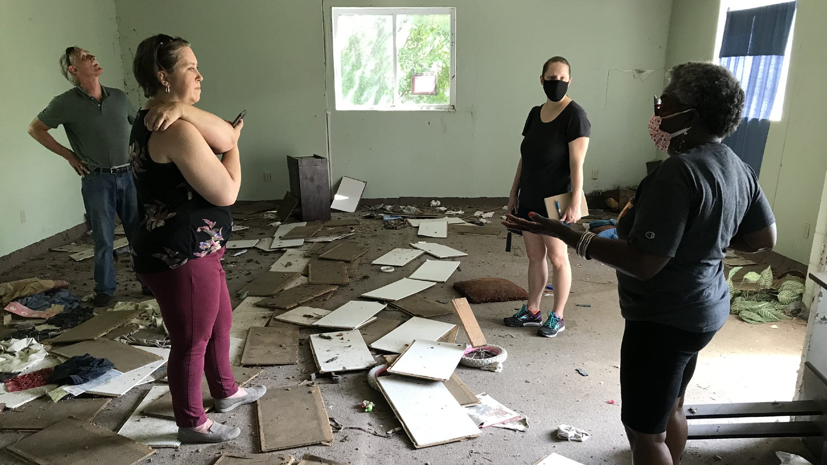 Historical Society officials visit local abandoned community center