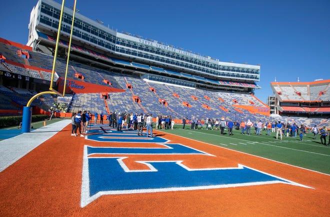 Ben Hill Griffin Stadium on the University of Florida campus.