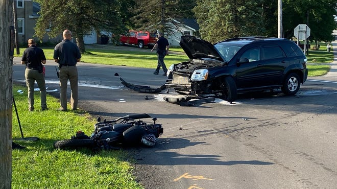 A Bucyrusmotorcyclist was killed in a two-vehicle crash Friday morning at Ohio 19 and Biddle Road on the city's west side.