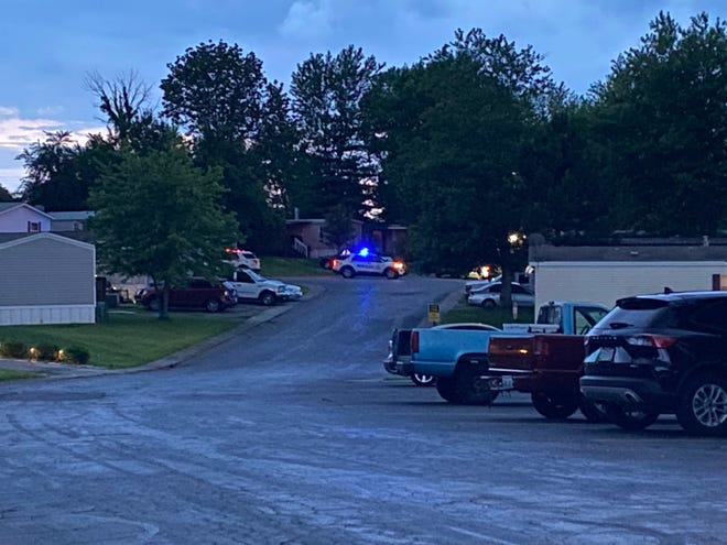 Police lights are seen on June 20, 2021, in the area of Garden Drive in Florence where a 33-year-old Verona man was shot and killed in an officer-involved shooting, said Kentucky State Police.
