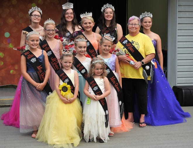 The 2021 West Lafayette Homecoming Court following the royalty competition Thursday at Burt Park. Members of the court will represent West Lafayette at fairs and festivals across the state through next summer.