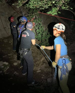 The Las Cruces Fire Department's Technical Rescue Team, Mesilla Valley Search and Rescue and Organ Mountain Rescue assisted with the extrication of a 15-year-old boy who was injured Tuesday, July 27, 2021, while hiking along the Soledad Canyon Trail in the Organ Mountains.